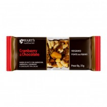 Barra de Nuts sabor Cramberry com Chocolate - Hart´s Natural 35g