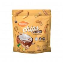 Chips de Coco com Gengibre - Flormel 20g