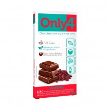 Chocolate 70% com Cranberry - Only4 80g