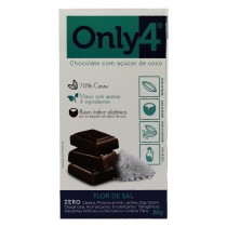 Chocolate 70% Cacau Flor de Sal - Only4 80g