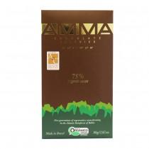 Chocolate Orgânico 75% Cacau - Amma 80g