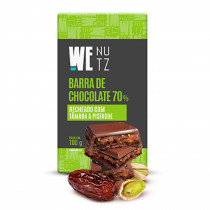 Choconutzbar - Chocolate 70% com Tâmara e Pistache - We Nutz 100g