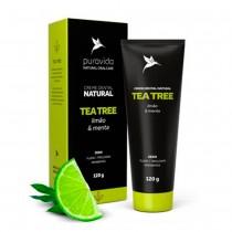 Creme Dental Tea Tree Sabor Limão e Menta - Puravida 120g