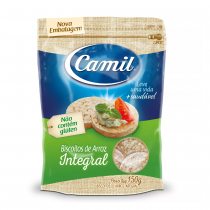 Mini Biscoito de Arroz Integral - Camil 150g