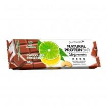 Natural Protein Bar Sabor Chocolate com Limão - Puravida 60g