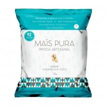 Pipoca Artesanal Caramelo e Coco - Mais Pura 75g