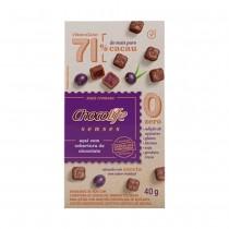 Senses Açaí com Cobertura de Chocolate - Chocolife 40g