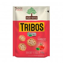 Snack Orgânico Tribos Tomate e Manjericão - Mãe Terra 50g
