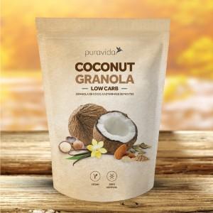 Coconut Granola Low Carb - Puravida 250g