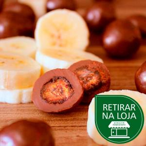 Banana Passa com Chocolate ao Leite a granel - 100g