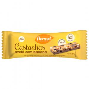 Barra de Castanhas Avelã com Banana - Flormel 27g