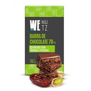 Choconutzbar - Chocolate 70% com Tâmara e Pistache - We Nutz 100g