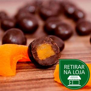 Damasco com Chocolate ao Leite a granel - 100g