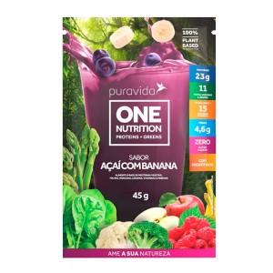One Nutrition Vegan sabor Açaí com Banana - Puravida 45g