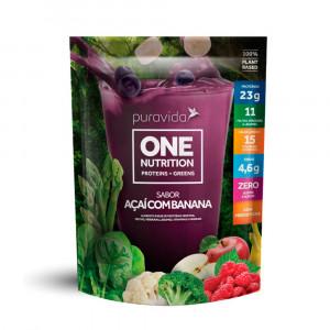 One Nutrition Vegan sabor Açaí com Banana - Puravida 900g